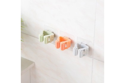 Cleaning Mop Holder Broom Organizer Broom Hanger B-Tap Holder Self Adhesive Bathroom Tool Stand Strong Easy Install Nail Free Hammer Free - AMH090