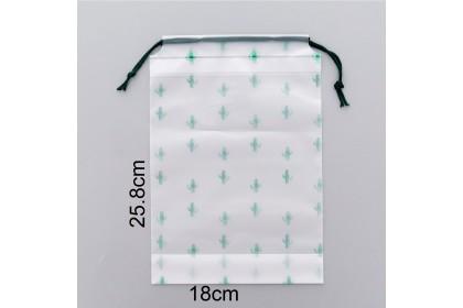 Drawstring Waterproof Transparent Matte Storage Bag Travel Clothing/Cosmetic/Shoe Packing Bag- LXSND