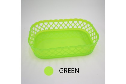 Basket Kitchen Basket Rectangle Drain Basket Multi-Use Storage Basket Candy Basket - 667