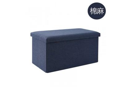Storage Sofa Size XL 76x38x38cm Foldable Storage Stool Bench Ottoman Shoe Bench - AHXBA7638