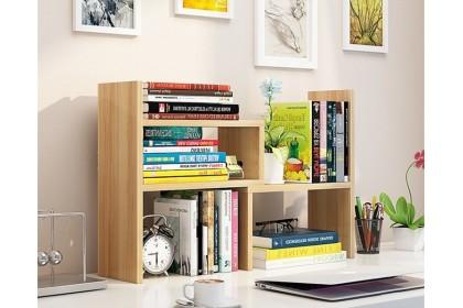 Storage Rack AMZ Table Top Book Shelf Free Assemble Book Rack Desktop Storage Table Rack Display Rack Office Organizer Document Rack - ARX3967422