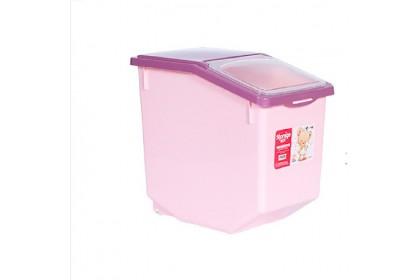 AMD Rice Storage With Wheels  Baldi Beras Heavy Duty Airtight Rice Container Easy Essentials Flip-top  10/15kg [SL1014]