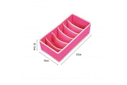 Bedroom Storage Underwear Bra Tie Socks Storage Box Foldable Organiser Storage Box 6/7/8/24cells - AKC-W035