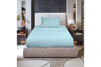 Bed Linen AMZ Patchwork 11 Color Fitted Bedsheet With Cotton Feel Fabric for Airbnb Homestay Bedroom Use - PFX-Bedlinen
