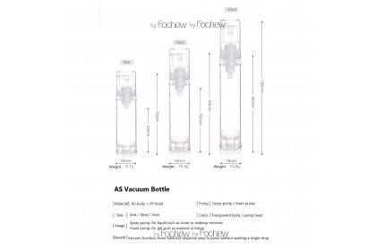 Spray Bottle,Vacuum Pump Spray Bottle,Fine Mist Sprayer, Cream Lotion Pump Bottle 5ML/10ML/15ML 真空喷雾瓶/乳液瓶 - AYSA02