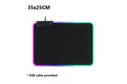FTC RGB Gaming Mousepad LED Lighting Large XL Mouse Pad for PC Computer Laptop - AMP8030