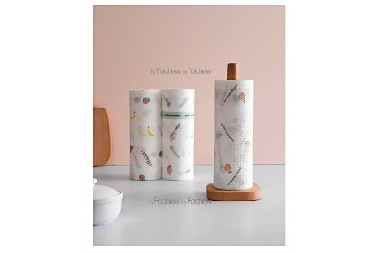 25*25CM Lazy Rag Non Woven Kitchen Towel 50PCS/Roll Washable Reusable for Many Times Wood Pulp+PP Disposable Towel